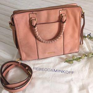 Rebecca Minkoff Bree Pink Leather Satchel